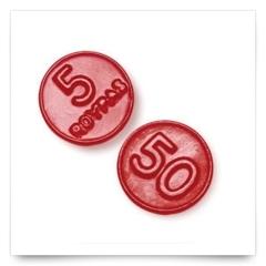Monedas Regaliz Roja de Roypas